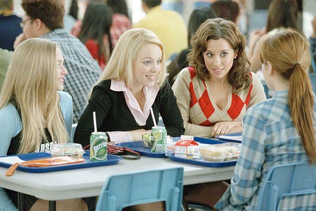 """""""I huvudet på Colin Fischer"""" använder sig väl mycket av de stereotyper som vi lärt oss ska finnas i en amerikansk high school. Här en scen ur filmen """"Mean girls""""."""