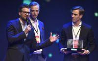 Lucas Simonsson, Jonas Fagerström och Carl Déman i humortrion JLC är de mäktigaste svenskarna på sociala medier, enligt Medieakademins Maktbarometer. Arkivbild.