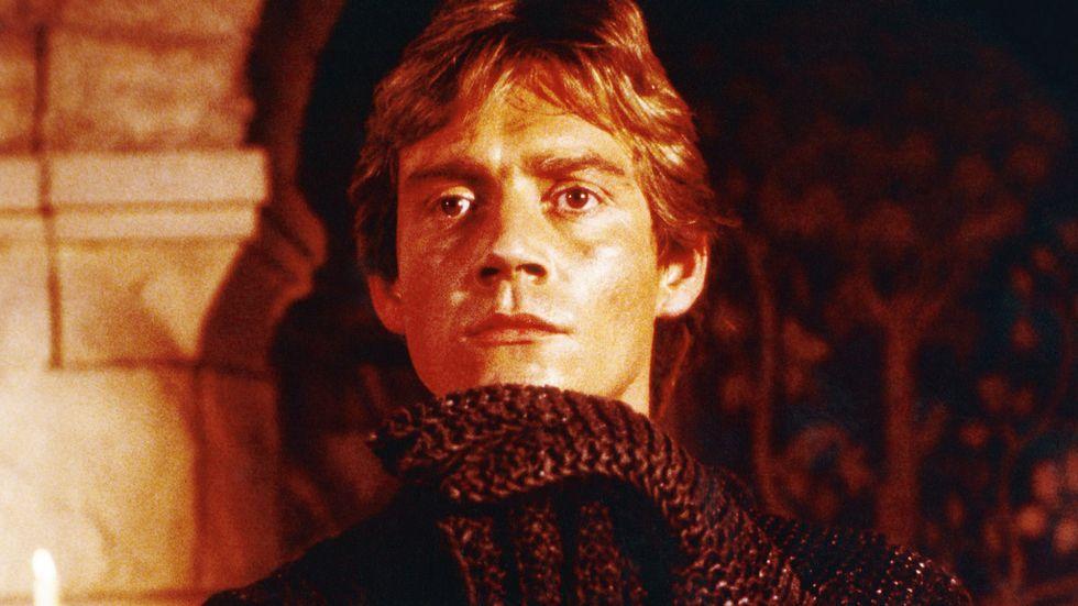 Anthony Andrews i filmatiseringen av Ivanhoe från 1982.