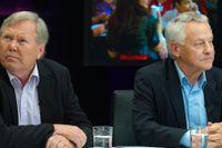 De före detta partiledarna Bert Karlsson och Bengt Westerberg möttes på nytt i SVT:s valvaka 2010.