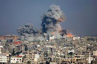 Rök efter en israelisk attack mot Gaza city.