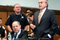 Harvey Weinstein och Benjamin Brafman i rätten i höstas.