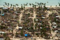 Förstörelsen i Macomia i Moçambique efter cyklonen Kenneth.