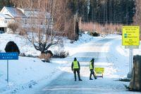 Svenska soldater vid gränsen mot Norge i värmländska Håvilsrud i februari, då gränsen var stängd åt båda hållen.