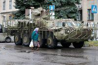 Donetsk i östra Ukraina är nu en belägrad stad.