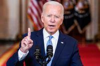 Joe Biden talade efter att kriget mot Afghanistan avslutats.