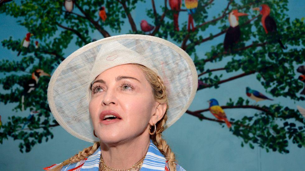 Madonna regisserar filmen baserad på hennes liv. Arkivbild.