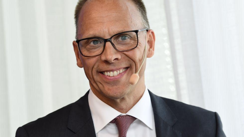 Nordea, med vd Frank Vang-Jensen, siktar på en rejäl omgång utdelning och återköp av aktier i höst. Arkivbild