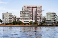 Sickla är ett av områdena i Stockholm som kan ta skada av extremväder. Dels om skyfall utsätter känsliga fasader för fukt, dels om Saltsjön svämmar över med de extremvärden som MSB beräknat.