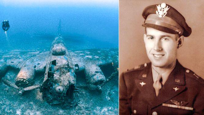 Ernest N. Vienneau var bara 25 år när han omkom och försvann i havets djup utanför Kroatiens kust. Vraket har legat på över 70 meters djup sedan 1944.