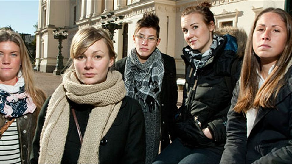 Beate Magnusson, Elin Sahlin, Ida Lidslot, Veronika Wendt och Anne Wadenhorm är några av studenterna bakom gruppåtalet mot Lunds universitet.