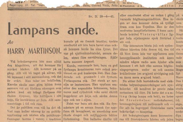 Denna artikel var införd i SvD den 28 april 1941.