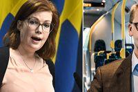 Stockholms regionråd Anna Starbrink (L) och trafikregionråd Kristoffer Tamsons (M) har synpunkter på regeringens nya besked.