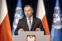 Polens president Andrzej Duda har testats positivt för coronaviruset. Arkivbild.