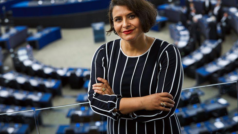Centerpartiets Abir Al-Sahlani i Europaparlamentet. Arkivbild.