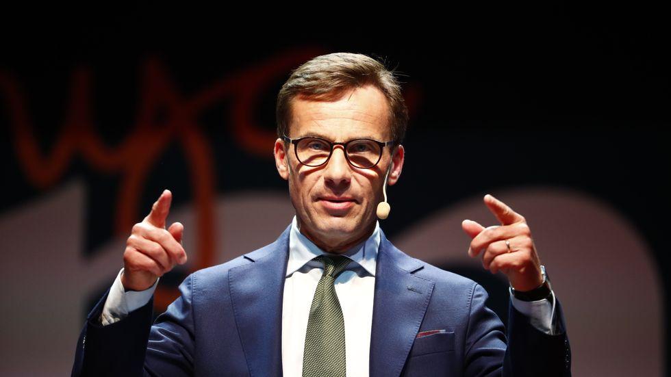 Moderaternas partiledare Ulf Kristersson. Arkivbild.