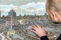 Svenolov Ehréns Slussen-motiv har blivit allt mer populärt av förklarliga skäl, men andra Stockholmsmotiv, som detta över Centralen/City, går i dag billigare på aktion.