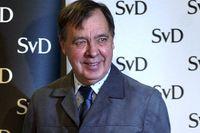 Sune Sylvén 2003 när han tillkännagav att Carolina Klüft hade tilldelats Bragdguldet.