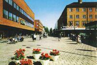 Epa och Tempo i Umeå centrum på 1960-talet.