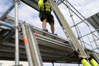 Många arbetsplatsolyckor sker i samband med byggnadsarbete. Arkivbild.