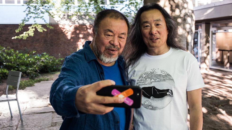 Ai Weiwei och Yang Lian.