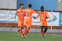 Samuel Nnamani, till höger, stod för två mål i matchen. Arkivbild.
