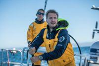 Martin Strömberg på Ocean Race-båten Turn the tide on plastic. Arkivbild.