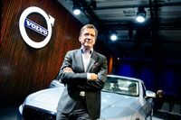 Volvo Cars vd Håkan Samuelsson i samband med att nya S90-modellen visades upp i december.