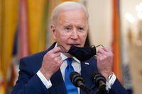USA:s president Joe Biden väntas skriva under det stora stödpaketet på fredag. Arkivbild.
