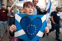 Demonstration för EU – och mot Boris Johnson i Edinburgh.