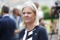 Konjunkturinstitutet väntas råda finansminister Magdalena Andersson (S) att sikta på överskott i sin konjunkturuppdatering. Arkivbild.