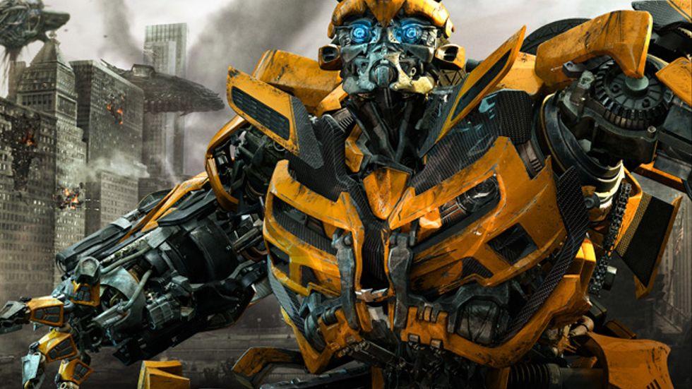 En datoranimerad robot från Transformers 3.