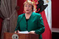 Chiles president Michelle Bachelet.