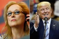 Meryl Streep som Donald Trump.