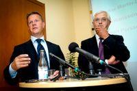 Från vänster: Jan Johansson, vd för SCA, och Sverker Martin-Löf, ordförande.