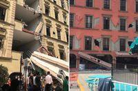 Förödelse i Mexico city efter jordskalvet.
