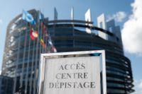 EU-parlamentets lokaler i Strasbourg har under coronapandemin bland annat används som testcenter för covid-19. Arkivfoto.