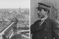 Utsikten från Mosebacke under 1890-talet. Härifrån gjorde Victor Rolla ballongflygningar som gav eko i huvudstaden.