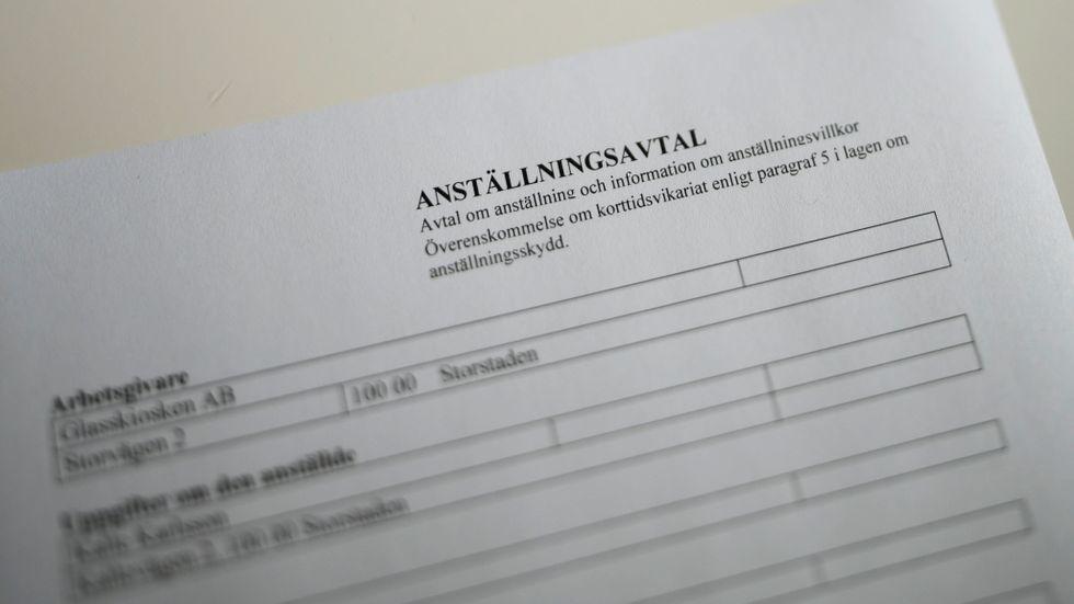 Mellan februari och augusti 2020 har tidsbegränsat anställda i Sverige minskat med 101000 anställda, enligt SCB. Arkivbild.
