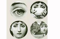Piero Fornasettis porträtt av operasångerskan Lina Cavalieri finns i många varianter.