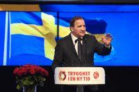 """Socialdemokraterna har satsat hårt på arbetare som flytt till SD. """"Trygghet i en ny tid"""" var parollen under S-kongressen och S slogan handlar om att svenska modellen ska utvecklas – inte avvecklas."""