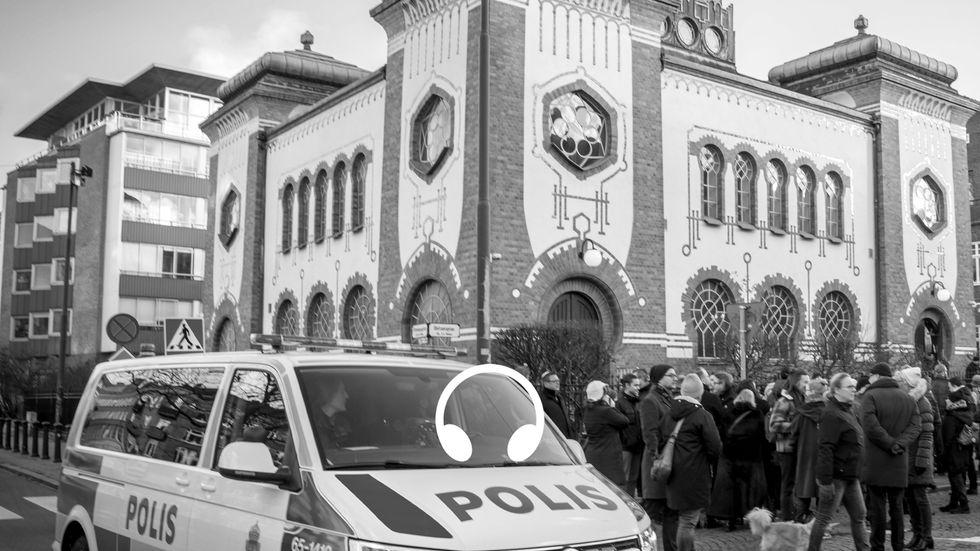 Kippavandring mot antisemitism i Malmö, 2017.