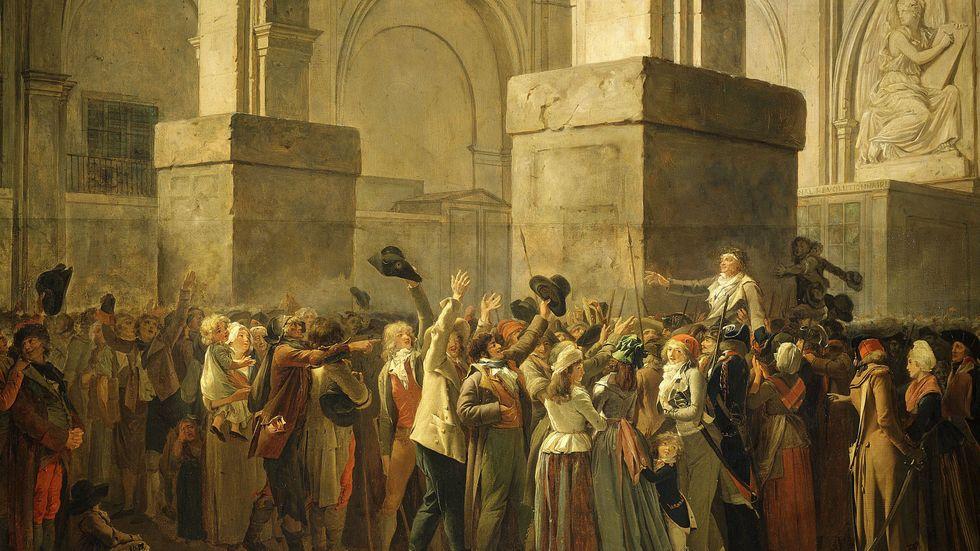 Jean Paul Marat blev tystad den den 13 juli 1793.