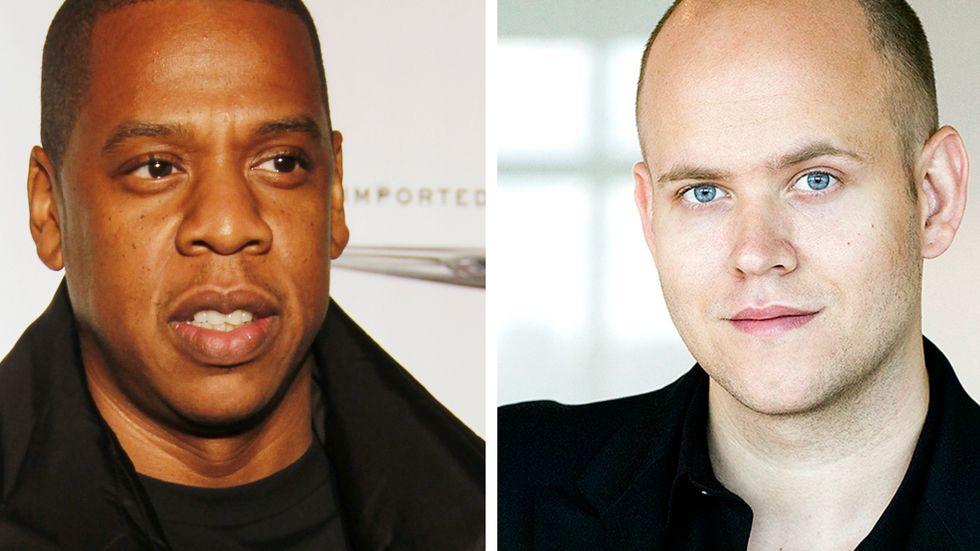 Jay-Z (Tidal) och Daniel Ek (Spotify).