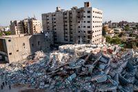 Förödelse i Gaza efter elva dagars strider. Arkivbild.