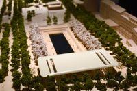 En modell av hur Apples butik i Kungsträdgården i Stockholm skulle se ut.