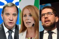 Stefan Löfven (S), Annie Lööf (C) och Jimmie Åkesson (SD) – kommer de att svara rakt på alla frågor inför valet?