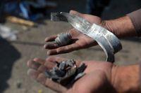 Delar av raketer och granatkastargranater som detonerade i Kabul på lördagen.