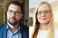 Jimmie Åkesson och Julia Kronlid, SD.