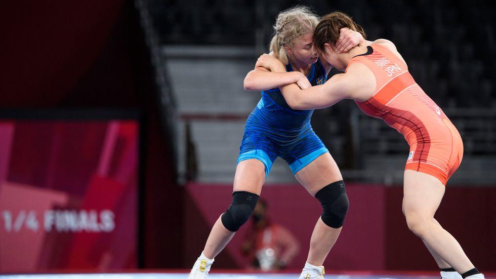 Henna Johansson förlorade mot Yukako Kawai, Japan, i kvartsfinal brottningens 62-kilosklass under sommar-OS i Tokyo.